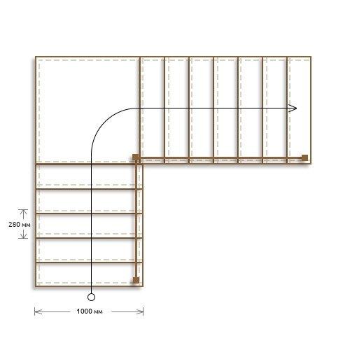 Стоимость облицовки бетонной г-образной лестницы с площадкой