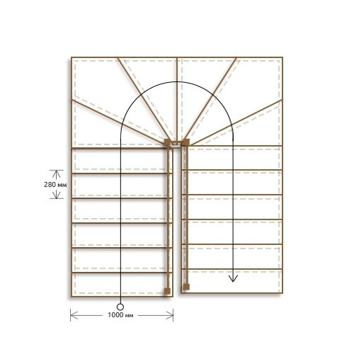Стоимость облицовки п-образной лестницы с забежными ступенями